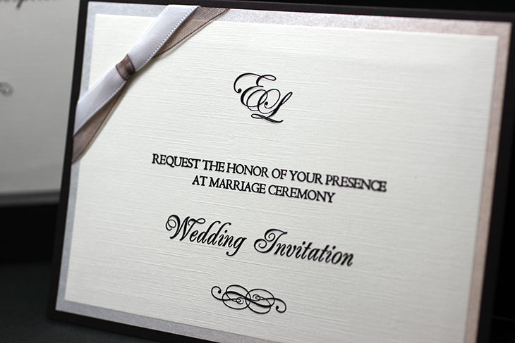 Cocktail Brown(カクテルブラウン)イメージ2結婚式招待状高級デザイン 印刷/手作り対応