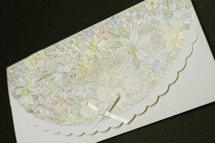 flower(フラワー)イメージ2結婚式招待状高級デザイン 印刷/手作り対応