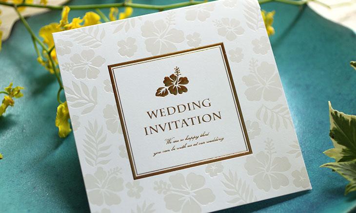ルフレ(招待状)結婚式招待状 ハイビスカス 南国沖縄イメージ