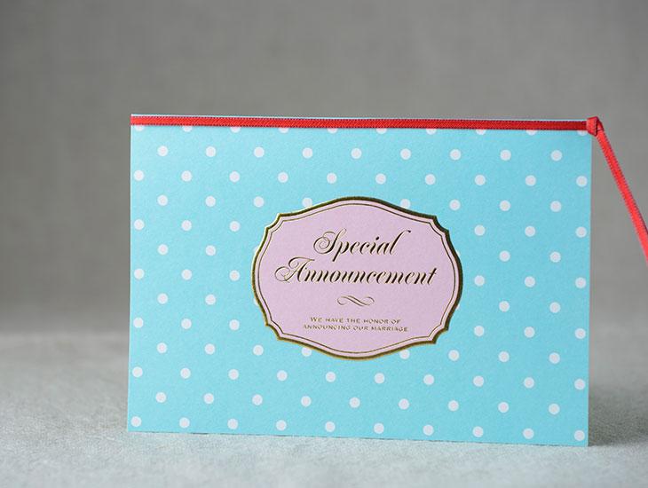 シュシュB (招待状)結婚式招待状 印刷/手作り対応イメージ1