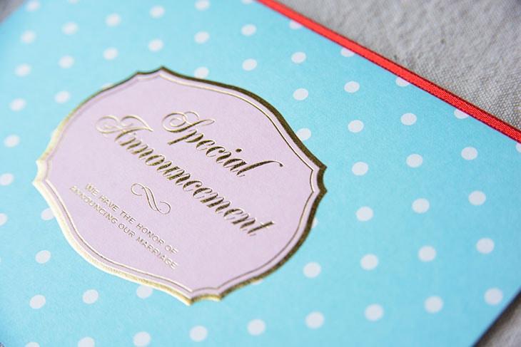 シュシュB (招待状)結婚式招待状 印刷/手作り対応イメージ3