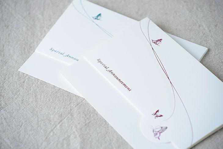 スワロウテイル結婚式招待状 印刷/手作り対応イメージ3