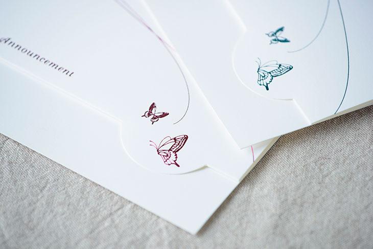 スワロウテイル結婚式招待状 印刷/手作り対応イメージ2