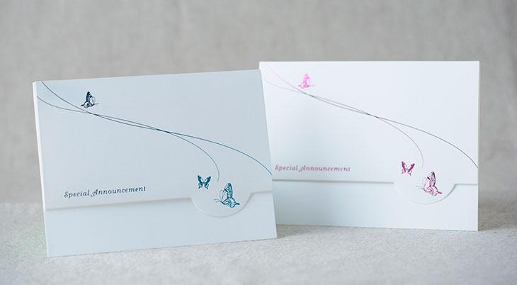 スワロウテイル結婚式招待状 印刷/手作り対応イメージ1