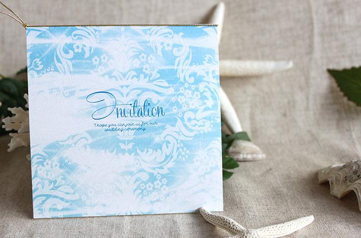ブルームフラワー(スクエア) 結婚式招待状 沖縄南国ペーパーアイテム リゾートウエディングにぴったり!画像4