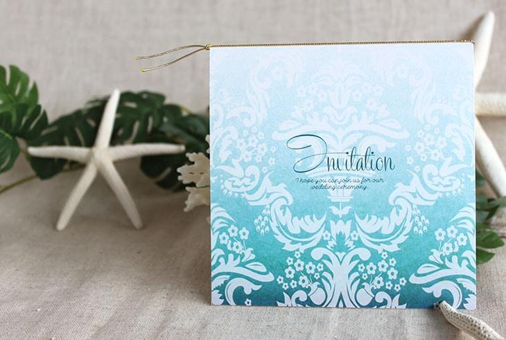 ブルームフラワー(スクエア) 結婚式招待状 沖縄南国ペーパーアイテム リゾートウエディングにぴったり!画像3