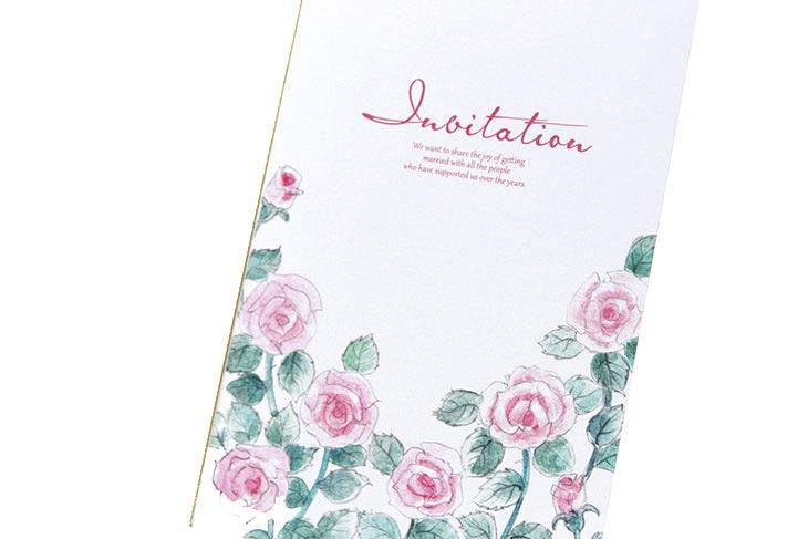 シャンタル(ロング)【フラワー】結婚式招待状ペーパーアイテム リゾートウエディングにぴったり!画像2
