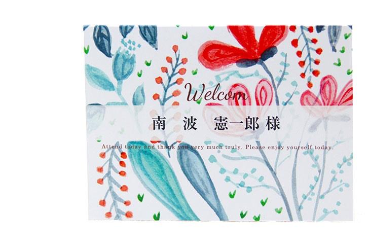 結婚式席札ペーパーアイテム【アイリーン】【フラワー】Oceanz leafシリーズ画像2