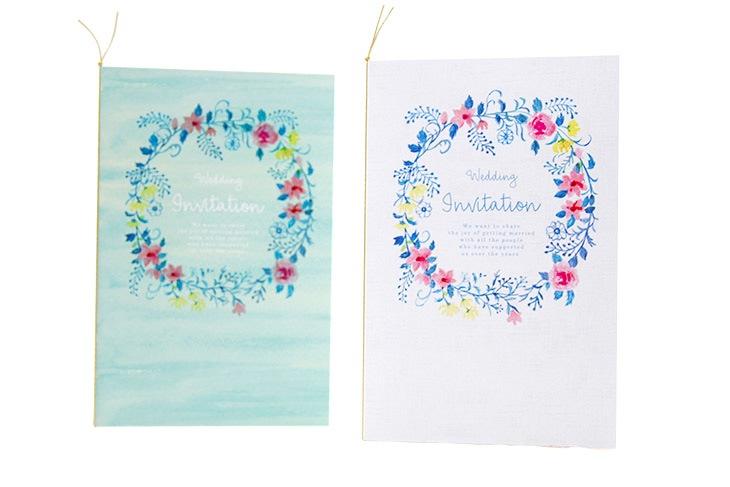ジャスティナ(ロング)【フラワー】結婚式招待状ペーパーアイテム リゾートウエディング画像1