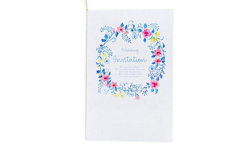 ジャスティナ(ロング)【フラワー】結婚式招待状ペーパーアイテム リゾートウエディングにぴったり!画像2