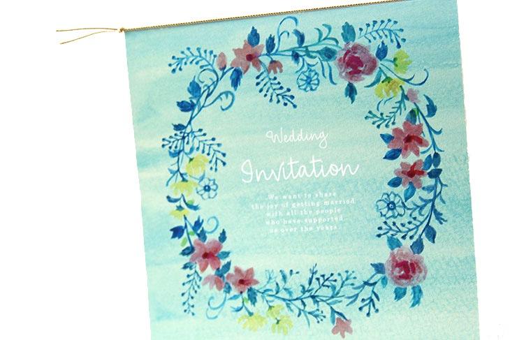 ジャスティナ(スクエア)【フラワー】結婚式招待状ペーパーアイテム リゾートウエディングにぴったり!画像2