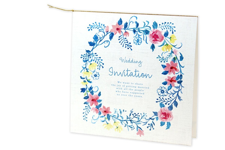 ジャスティナ(スクエア)【フラワー】結婚式招待状ペーパーアイテム リゾートウエディングにぴったり!画像3