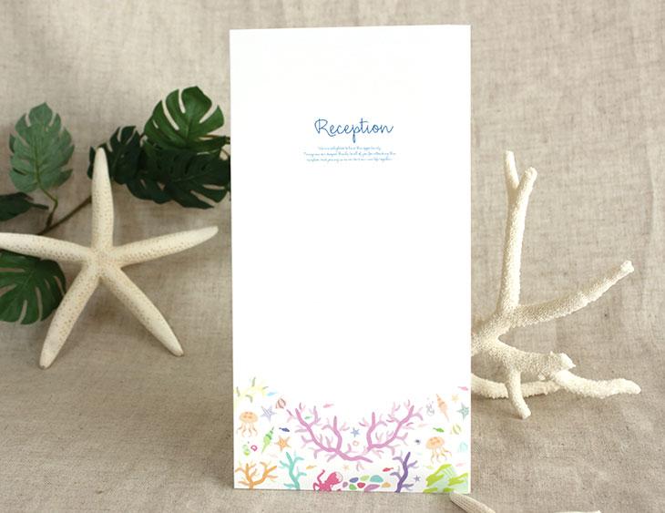 結婚式席次表リゾートペーパーアイテム【セヴンリーフ】Oceanz leafシリーズ画像3