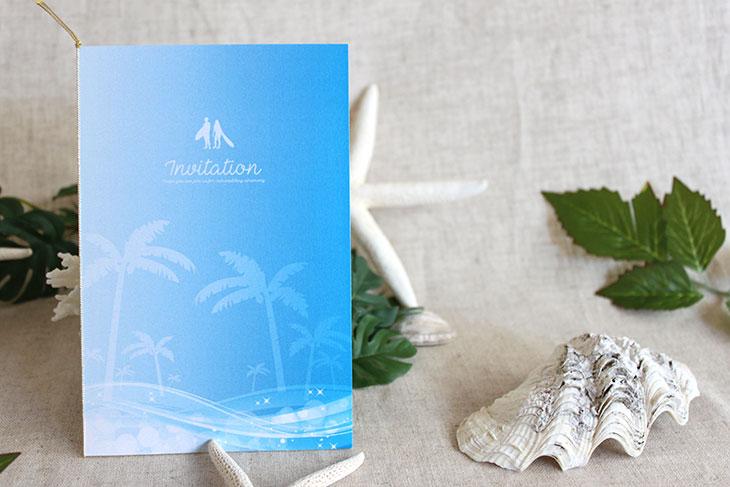 結婚式招待状 リゾートペーパーアイテム【スウェル(ロング型)】Oceanz leafシリーズ画像2