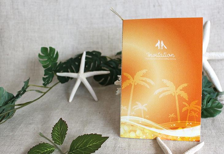 結婚式招待状 リゾートペーパーアイテム【スウェル(ロング型)】Oceanz leafシリーズ画像3