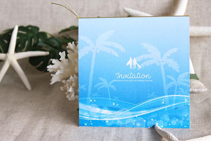 スウェル(スクエア) 結婚式招待状 沖縄南国ペーパーアイテム リゾートウエディングにぴったり!画像3
