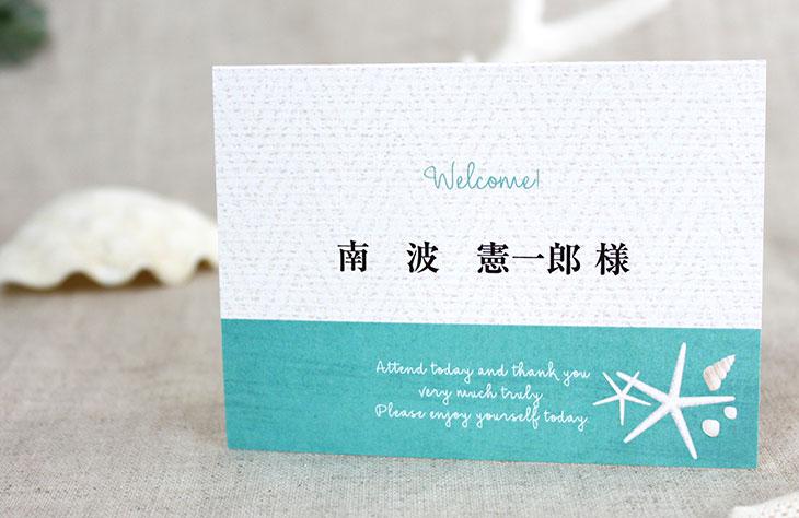 結婚式席次表リゾートペーパーアイテム【タイダルウェーヴ】Oceanz leafシリーズ画像4