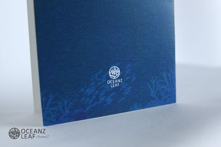 結婚式招待状 リゾートペーパーアイテム【タイダルウェーヴ2(ロング型)ネイビー】Oceanz leafシリーズ画像3