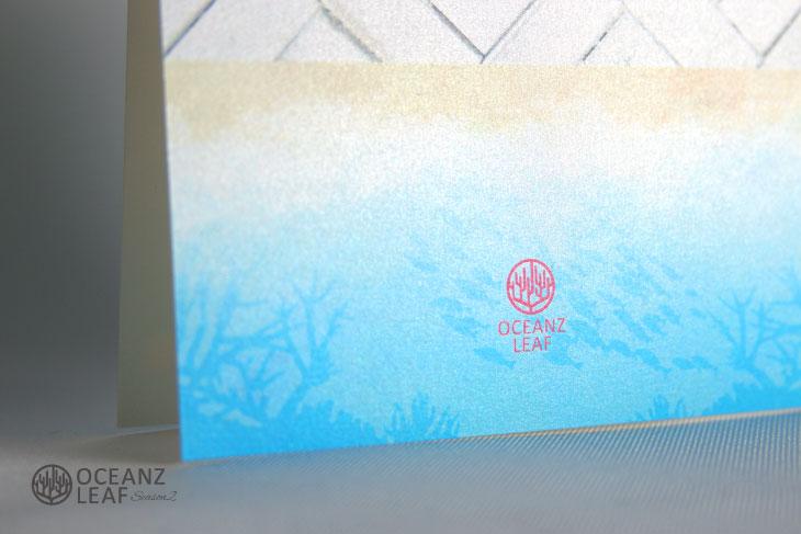 タイダルウェーヴ2(スクエア)ライトブルー 結婚式招待状 沖縄南国ペーパーアイテム リゾートウエディングにぴったり!画像3