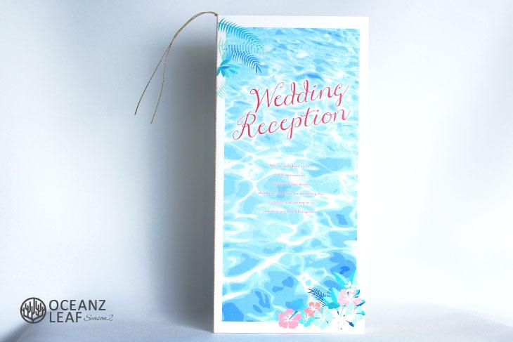 結婚式席次表 リゾートペーパーアイテム【アイダ】フラワー Oceanz leafシリーズ画像1