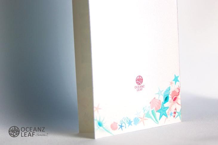 結婚式席次表リゾートペーパーアイテム【アイダ】シェル Oceanz leafシリーズ画像3