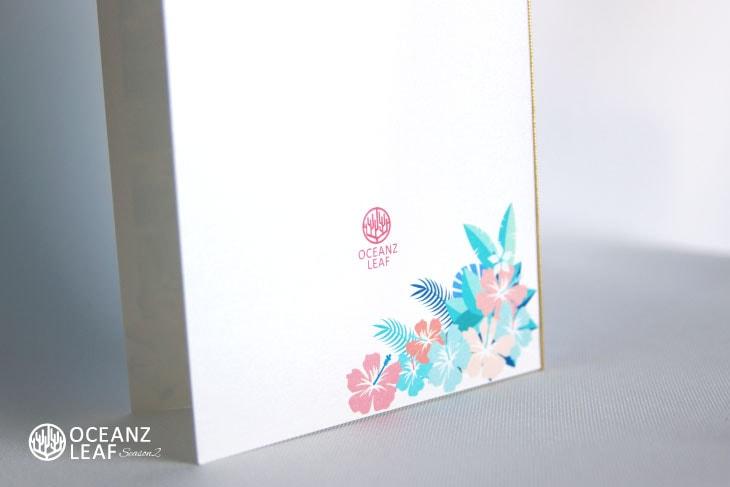 結婚式招待状 リゾートペーパーアイテム【アイダ(ロング型)フラワー】Oceanz leafシリーズ画像3