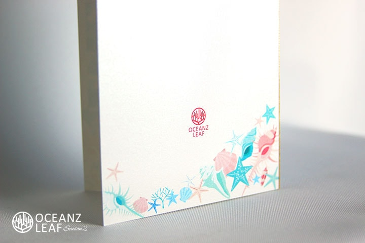 結婚式招待状 リゾートペーパーアイテム【アイダ(ロング型)シェル】Oceanz leafシリーズ画像3