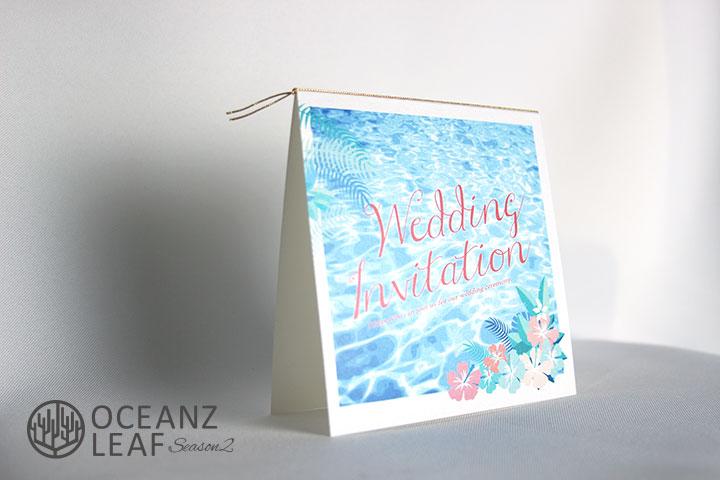 アイダ(スクエア)フラワー 結婚式招待状 沖縄南国ペーパーアイテム リゾートウエディングにぴったり!画像2