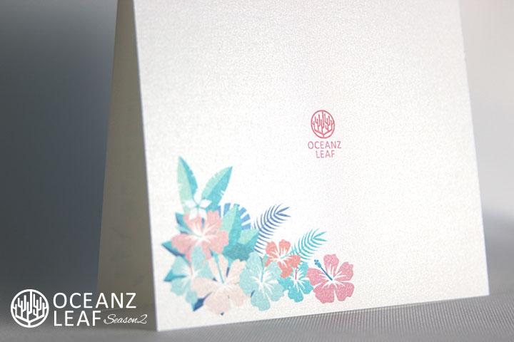 アイダ(スクエア)フラワー 結婚式招待状 沖縄南国ペーパーアイテム リゾートウエディングにぴったり!画像3