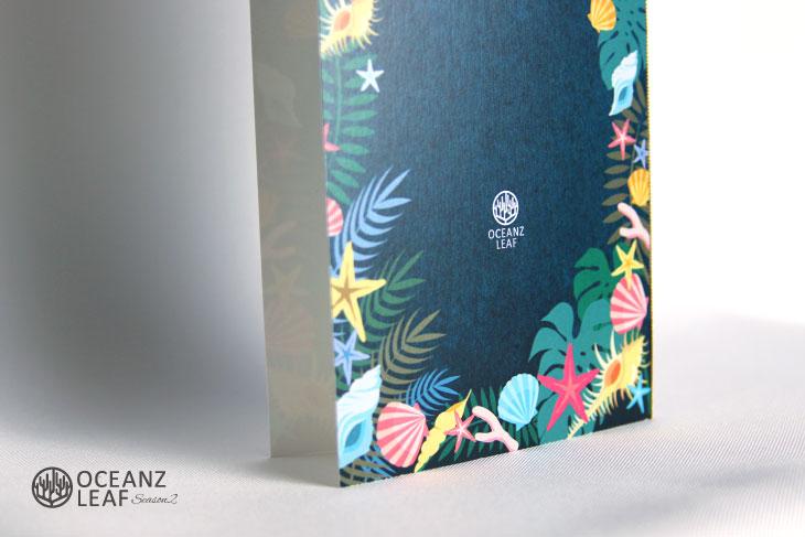結婚式席次表リゾートペーパーアイテム【アマンド】ダークグリーン Oceanz leafシリーズ画像3