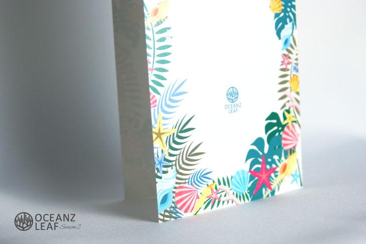 結婚式席次表リゾートペーパーアイテム【アマンド】ホワイト Oceanz leafシリーズ画像3