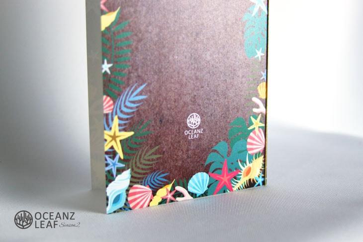 結婚式招待状 リゾートペーパーアイテム【アマンダ(ロング型)ブラウン】Oceanz leafシリーズ画像3