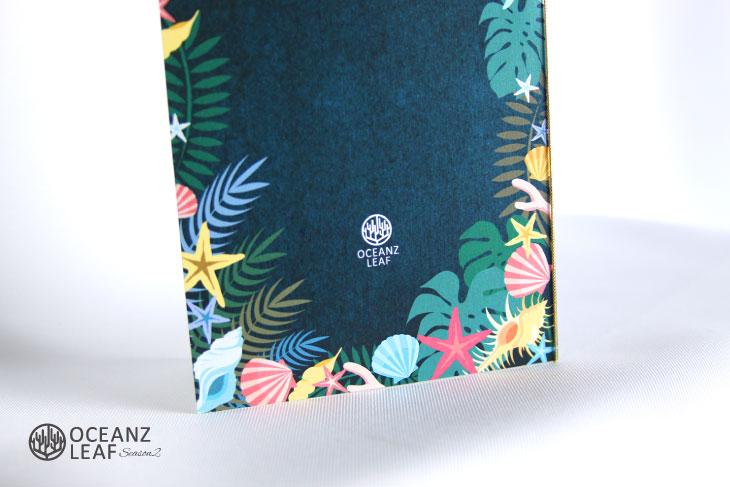 結婚式招待状 リゾートペーパーアイテム【アマンダ(ロング型)ダークグリーン】Oceanz leafシリーズ画像3