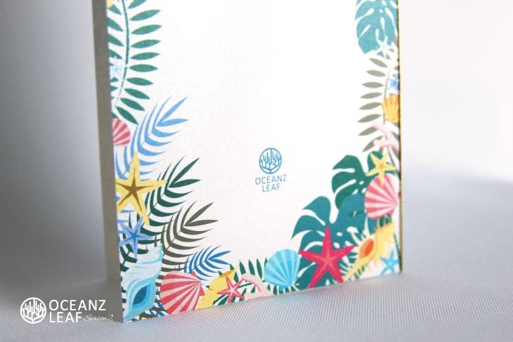 結婚式招待状 リゾートペーパーアイテム【アマンダ(ロング型)ホワイト】Oceanz leafシリーズ画像3