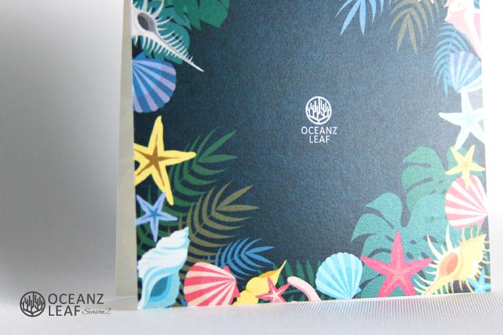 アマンダ(スクエア型)ダークグリーン 結婚式招待状 沖縄南国ペーパーアイテム リゾートウエディングにぴったり!画像3