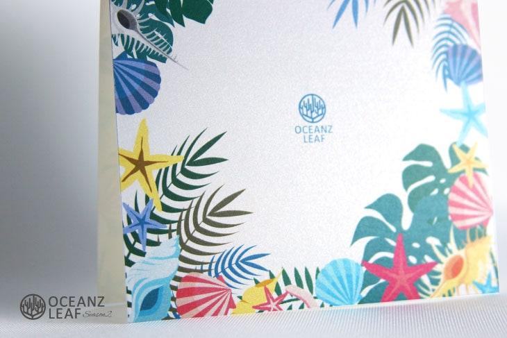 アマンダ(スクエア型)ホワイト結婚式招待状 沖縄南国ペーパーアイテム リゾートウエディングにぴったり!画像3