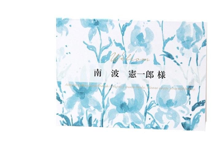 結婚式席札ペーパーアイテム【ビオラ】【フラワー】Oceanz leafシリーズ画像2