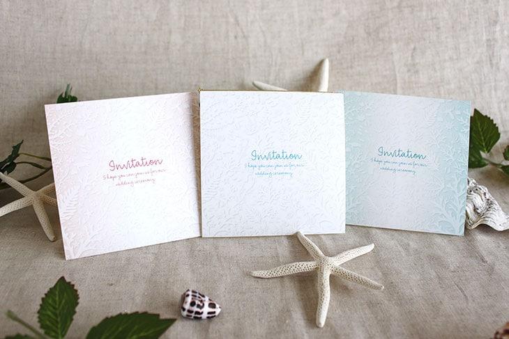 コーラルフォレスト(スクエア) 結婚式招待状 沖縄南国ペーパーアイテム リゾートウエディング画像1