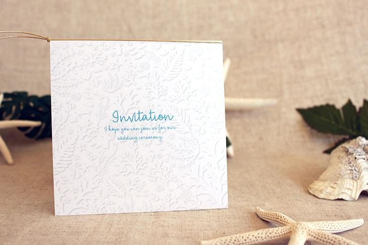 コーラルフォレスト(スクエア) 結婚式招待状 沖縄南国ペーパーアイテム リゾートウエディングにぴったり!画像2