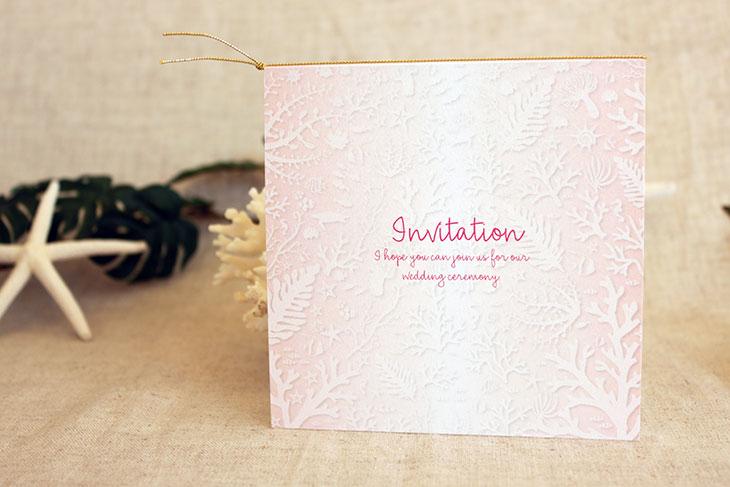 コーラルフォレスト(スクエア) 結婚式招待状 沖縄南国ペーパーアイテム リゾートウエディングにぴったり!画像4