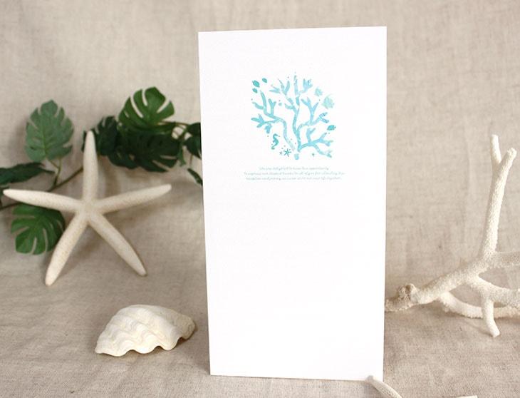 結婚式席次表リゾートペーパーアイテム【コーラルハウス】Oceanz leafシリーズ画像3