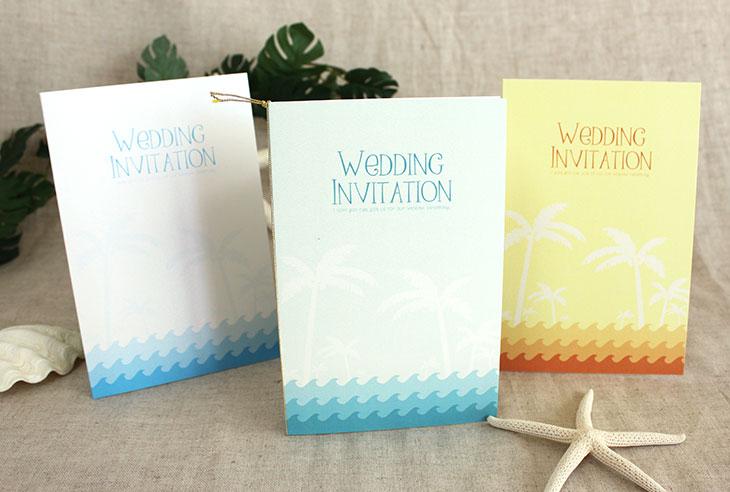 結婚式招待状 リゾートペーパーアイテム【カレント(ロング型)】Oceanz leafシリーズ画像1