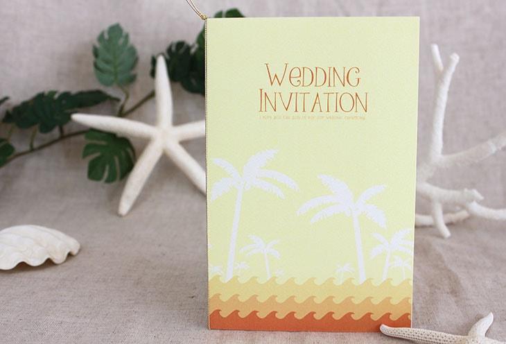 結婚式招待状 リゾートペーパーアイテム【カレント(ロング型)】Oceanz leafシリーズ画像4