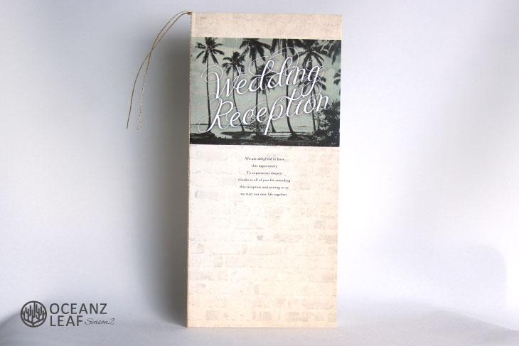 結婚式席次表 リゾートペーパーアイテム【エルモ】Oceanz leafシリーズ画像1