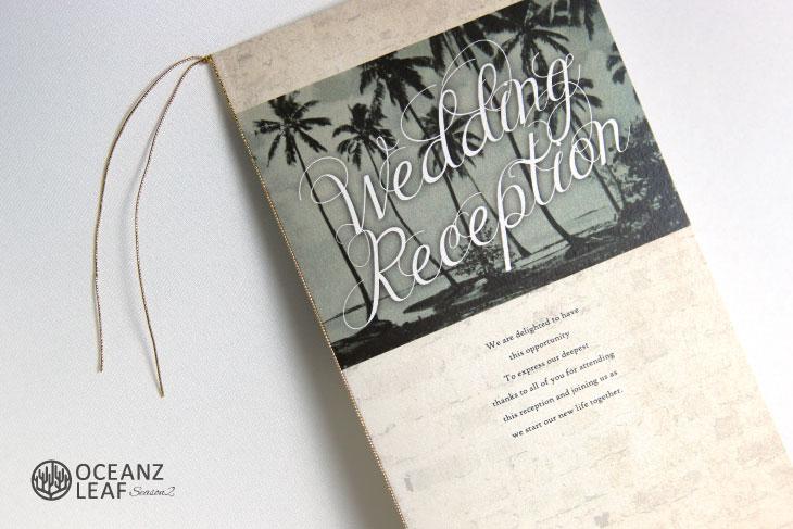 結婚式席次表 リゾートペーパーアイテム【エルモ】Oceanz leafシリーズ画像2