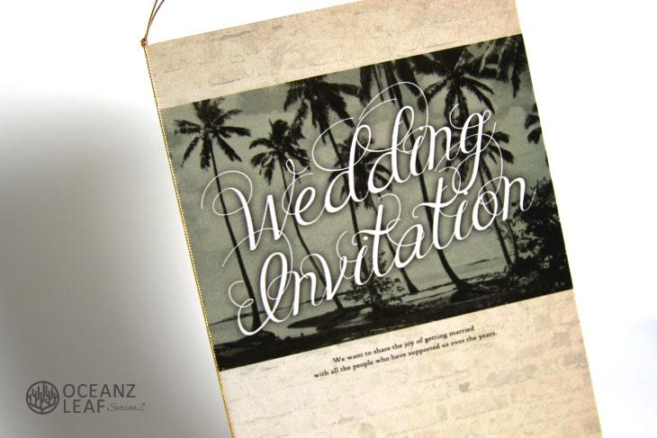 結婚式招待状 リゾートペーパーアイテム【エルモ(ロング型)】Oceanz leafシリーズ画像2
