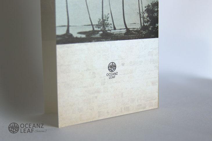 結婚式招待状 リゾートペーパーアイテム【エルモ(ロング型)】Oceanz leafシリーズ画像3