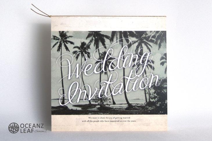 エルモ(スクエア) 結婚式招待状 沖縄南国ペーパーアイテム リゾートウエディング画像1