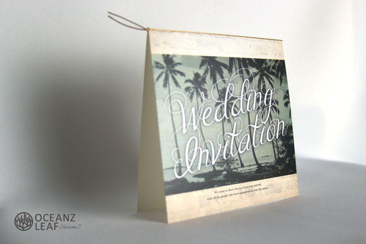 エルモ(スクエア)結婚式招待状 沖縄南国ペーパーアイテム リゾートウエディングにぴったり!画像2