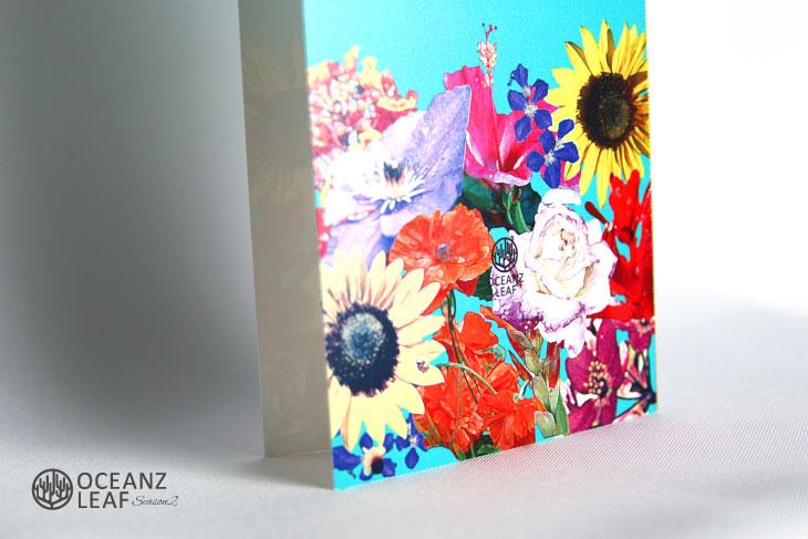 結婚式席次表リゾートペーパーアイテム【エブリン】Oceanz leafシリーズ画像3
